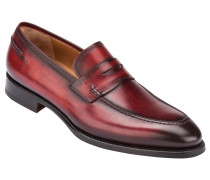 Businessschuh, Penny Loafer in Rot für Herren
