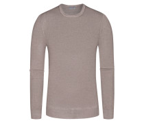 Pullover, O-Neck in Taupe