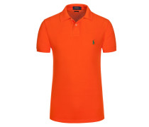 Poloshirt, Custom Fit in Orange für Herren