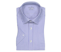 Kurzarmhemd, Tailor Fit in Blau für Herren