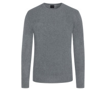 Pullover im Wollmix, in Bouclé-Optik in Grau
