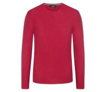 Pullover mit Seidenanteil in Rot