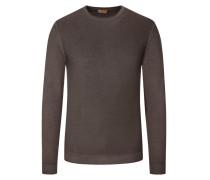 Pullover aus 100% Merinowolle in Braun