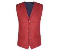 Modische Tweed-Weste in Rot für Herren