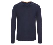 Pullover aus 100% Merinwolle in Marine für Herren