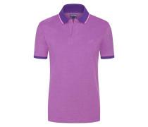 Piqué-Poloshirt, mit Kontrastbündchen in Lila