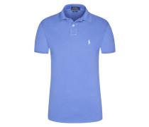 Poloshirt, Custom Fit in Blau für Herren