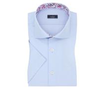 Kurzarmhemd, Tailor Fit in H-blau für Herren
