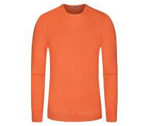 Pullover, O-Neck in Orange