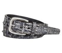 Gürtel aus Krokodilleder in Anthrazit für Herren