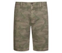 Bermuda im Camouflage-Look in Oliv für Herren