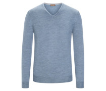 Pullover aus 100% Merinwolle in Hellblau für Herren