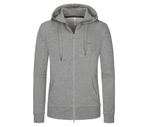 Sweatjacke in Anthrazit für Herren