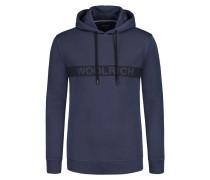 Sweatshirt in modischer Struktur in Marine für Herren