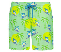 Badehose mit Surfing-Turtles in Gruen