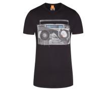 T-Shirt, Turbolens, Regular Fit in Schwarz für Herren