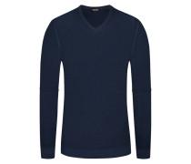 Pullover, V-Neck in Blau für Herren