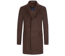 Hochwertiger Mantel im Kaschmir-Mix in Braun für Herren