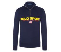 Sweatshirt mit Troyer-Kragen, nur Online verfügbar in Marine