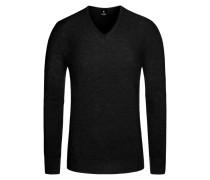 Pullover in Reiskorn-Optik in Schwarz für Herren