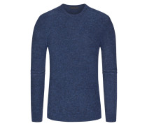 Pullover, Bouclé-Strick in Royal