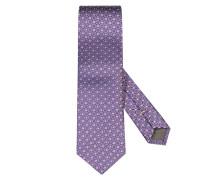 Krawatte aus 100% Seide in Lila