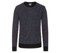 Pullover, O-Neck, in meliertem Design in Anthrazit