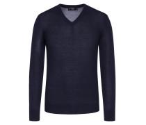 Leichter Pullover mit Ellenbogen-Patches in Marine