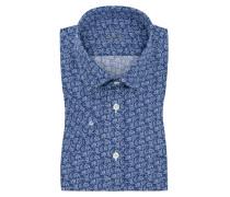 Kurzarmhemd mit Paisley-Muster in Blau für Herren