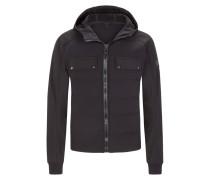 Softshell Jacke mit Daunenfüllung in Schwarz für Herren