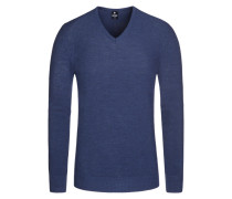 Pullover in Reiskorn-Optik in Blau für Herren. ANDREA FENZI 9a74b90bde