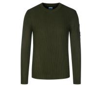Pullover im Wollmix in Oliv für Herren