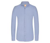 Freizeithemd, Cattitude, Slim Fit in Blau für Herren