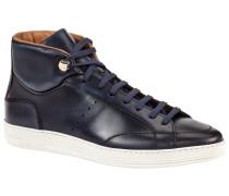 Sneaker in Hightop-Form in Marine