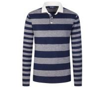 Sweatshirt mit Polokragen in Marine für Herren