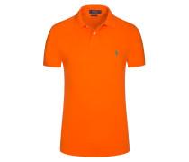 Poloshirt, Slim Fit in Orange für Herren