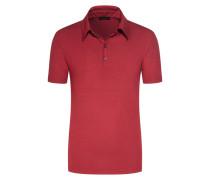 Poloshirt mit Stretchanteil in Rot