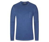 Pullover mit Brusttasche in Blau