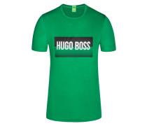 T-Shirt mit Logo-Print in Gruen für Herren