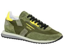 Sneaker im Military-Look in Oliv