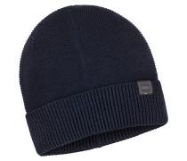 Feinstrick-Mütze in Blau für Herren
