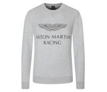 Sweatshirt mit Frontprint in Grau