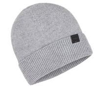 Feinstrick-Mütze in Grau für Herren