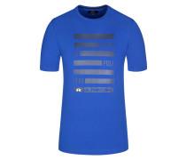 T-Shirt, O-Neck in Blau für Herren