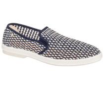 Loafer, mit Flechtmuster in Blau