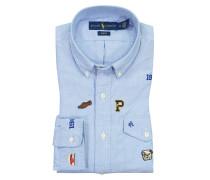 Oxfordhemd, Slim Fit in Blau für Herren