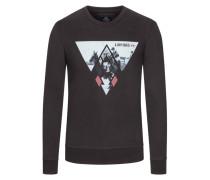Sweatshirt mit Frontprint in Schwarz für Herren