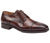 Businessschuh, Derby-Halfbrogue in Braun für Herren