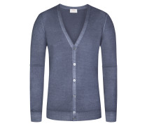 Strickjacke, Regular Fit in Grau für Herren