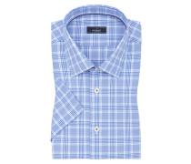 Kurzarmhemd, Tet, Tailor Fit in M-blau für Herren
